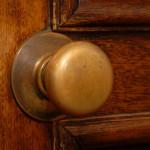 clean door knob in Jacksonville home