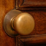 clean door knob in Jacksonville home