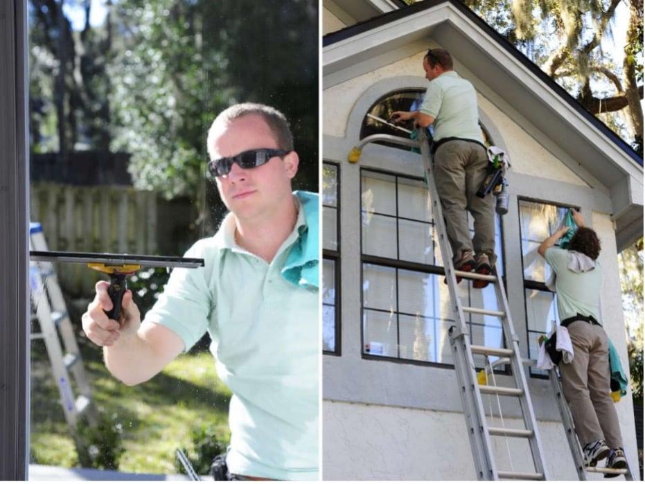 First Coast home pros team Washing Windows